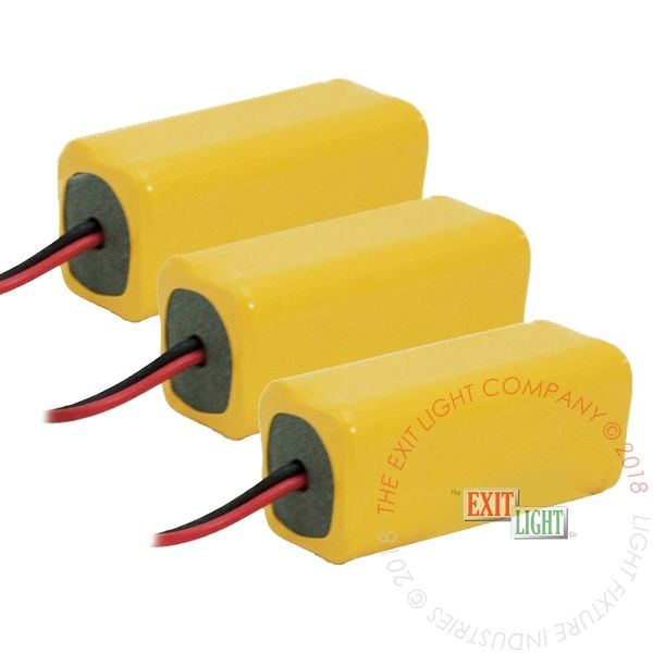 The Exit Light Co. - Battery AAA NiCad 4.8V 300mAh (3 Per Pack)