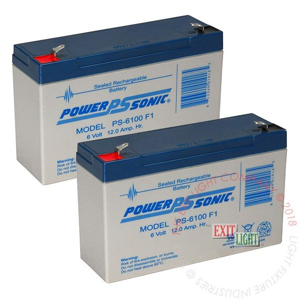 Battery 6V, 10Ah (2 Per Pack)