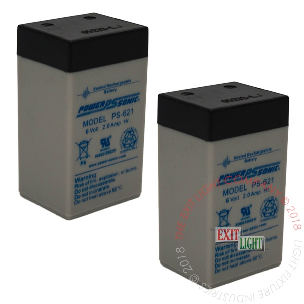 Battery 6V 2.0Ah (2 Per Pack)