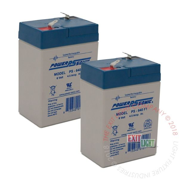 Battery 6V, 4.5Ah (2 Per Pack)