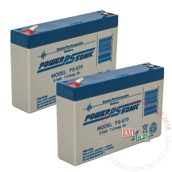 Battery 6V, 7Ah (2 Per Pack)