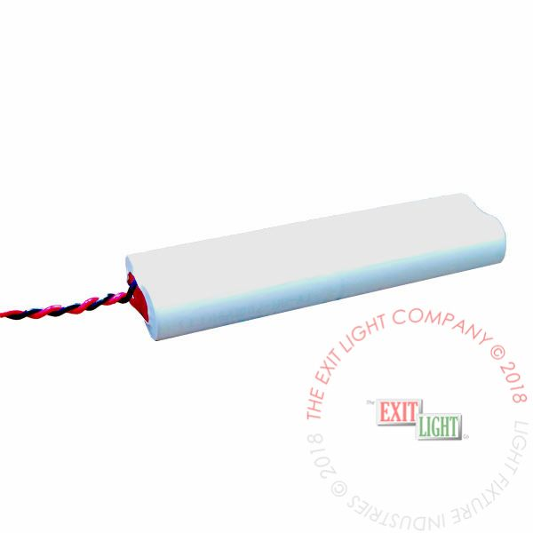 The Exit Light Co. - Battery AA NiCad 4.8V 700mAh - 2x2 Inline
