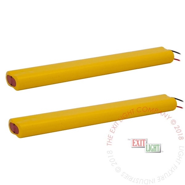 The Exit Light Co. - Battery AA NiCad 9.6V 700mAh - 2x4 Inline (2 Per Pack)
