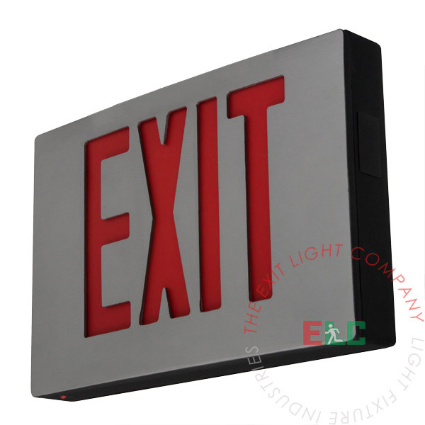 The Exit Light Co. - Cast Aluminum Red LED Exit Sign