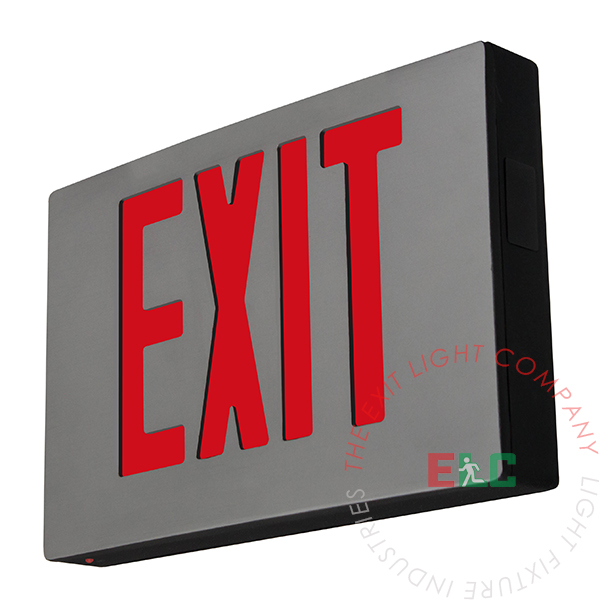 Cast Aluminum Red LED Exit Sign