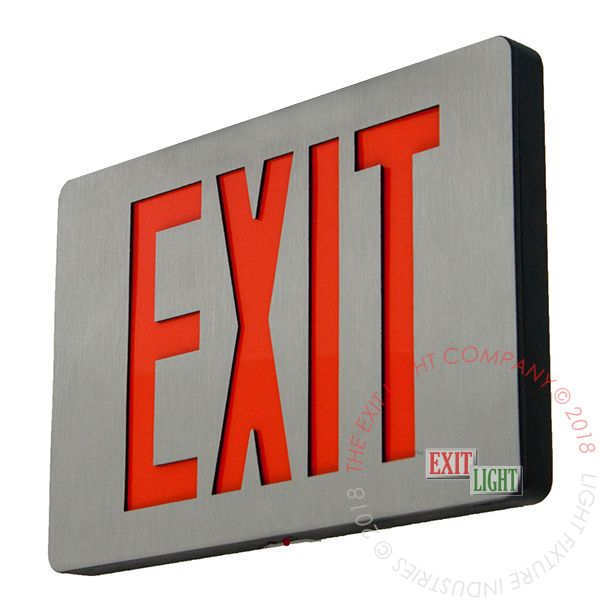 Ultra Thin Cast Aluminum Red LED Exit Sign