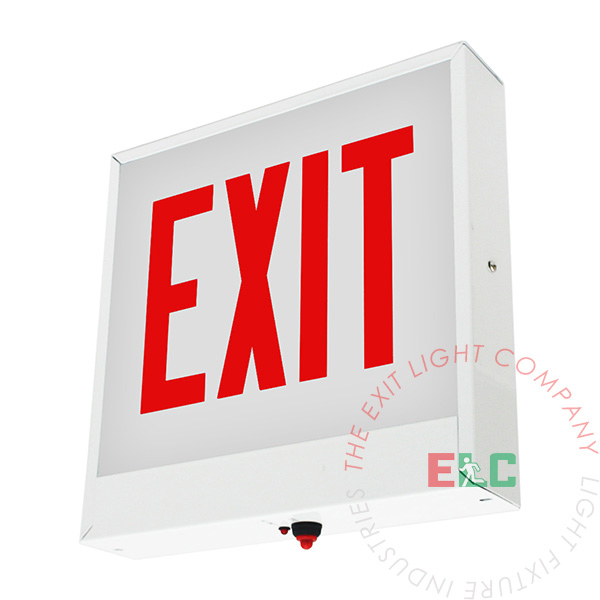 Red LED Chicago Approved Exit Sign | UL 924