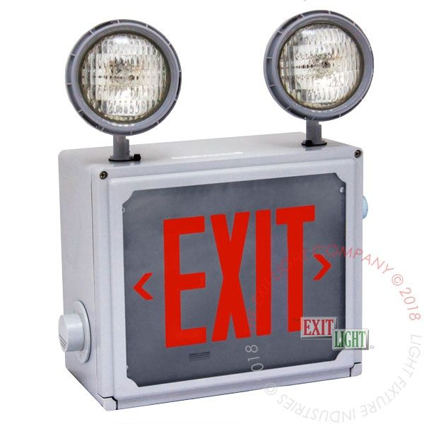 Exit Sign / Emergency Light Combo | Hazardous | 10-12 Week Lead Time