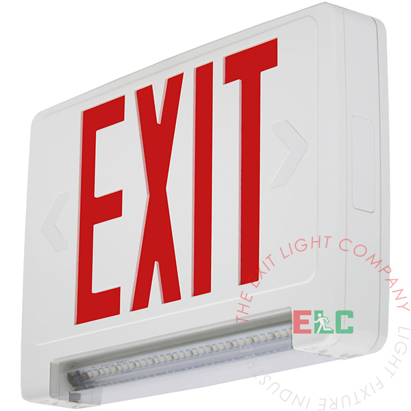 Ultra Bright Red Exit Sign w/ Emergency LED Light Bar Combo