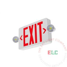 Micro Red LED Exit Light Combo | Adjustable Heads