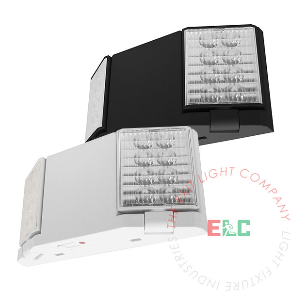 LED Emergency Light | White or Black Housing | Adjustable Heads