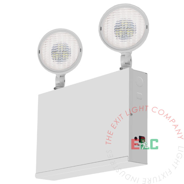 Steel NYC LED Emergency Light | 2 Head