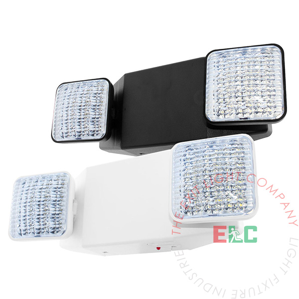 Standard Bright LED Emergency Light | White or Black Housing