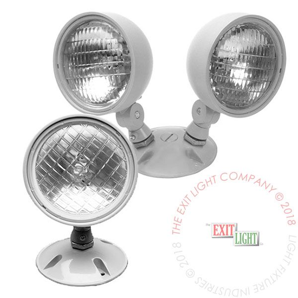 The Exit Light Co. - Remote Head | Single or Double | 12 Volt | Weather Proof