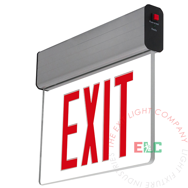 The Exit Light Co. - Edge Lit Red LED Exit Sign | Surface Mount