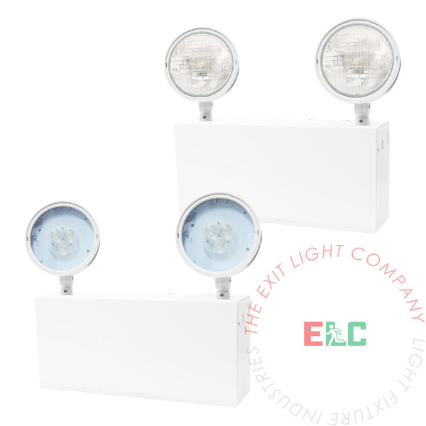 The Exit Light Co. - Steel Emergency Light | Options Available | 1-2 Week Lead Time
