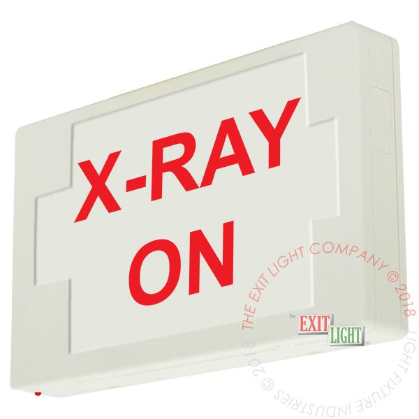 The Exit Light Co. - LED Exit Sign/Egress Sign, Plastic Sign | Single Sided | X-RAY ON | 5-7 Day Lead Time