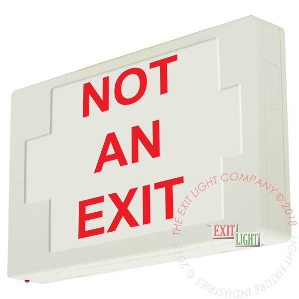 The Exit Light Co. - LEDExit Sign/Egress Sign, Plastic Sign | Single Sided | NOT AN EXIT