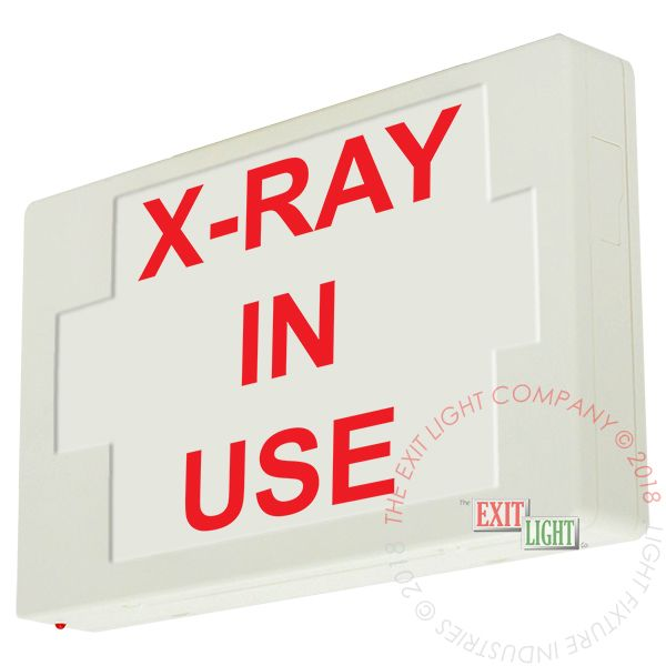 The Exit Light Co. - LED Exit Sign/Egress Sign, Plastic Sign | Single Sided | X-RAY IN USE