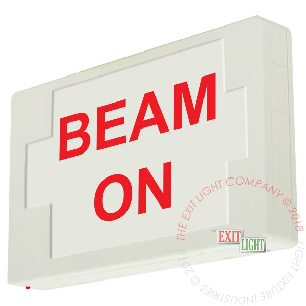 LED Exit Sign/Egress Sign, Plastic Sign | Single Sided | BEAM ON