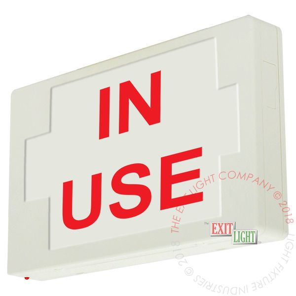LED Exit Sign/Egress Sign, Plastic Sign | Single Sided | IN USE