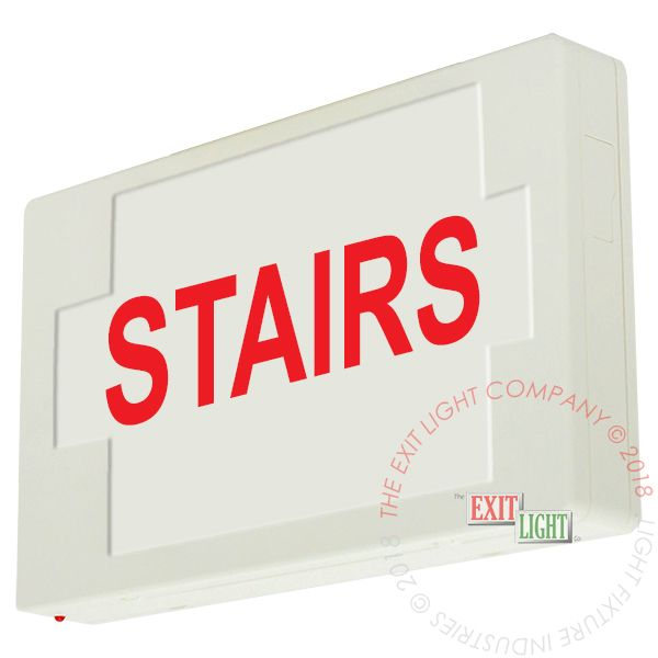 LED Exit Sign/Egress Sign, Plastic Sign | Single Sided | STAIRS