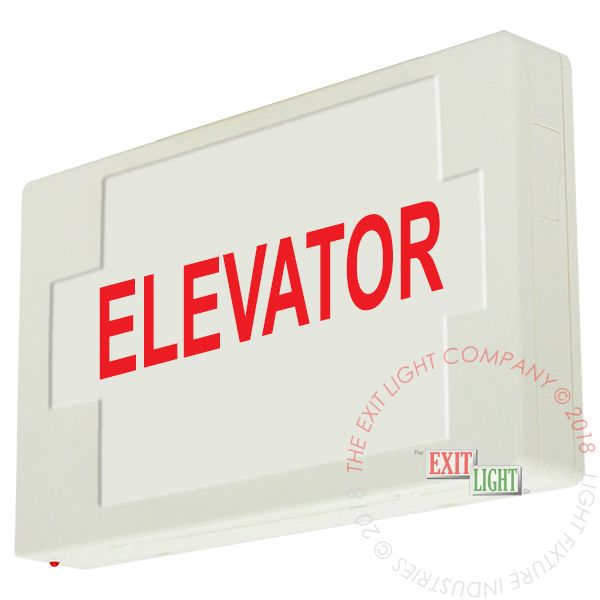 LED Exit Sign/Egress Sign, Plastic Sign | Single Sided | ELEVATOR