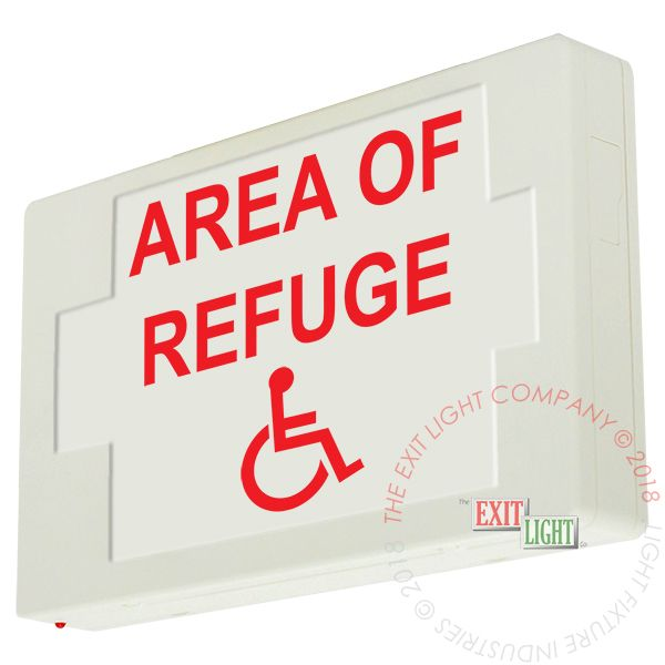 LED Exit Sign/Egress Sign, Plastic Sign | Single Sided | AREA OF REFUGE HC