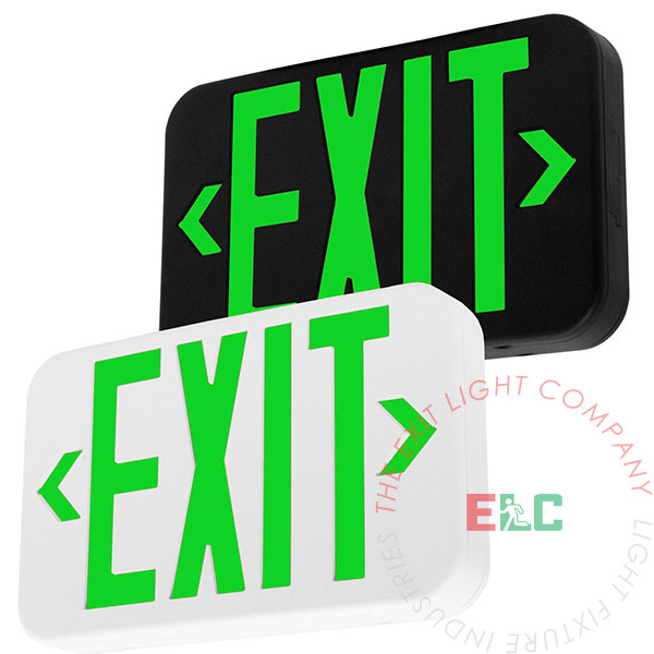 Modern Design Green LED Exit Sign
