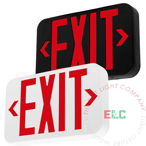 The Exit Light Co. - Modern Design Red LED Exit Sign