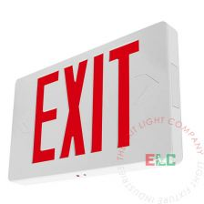 Thin Red LED Exit Sign - White Housing