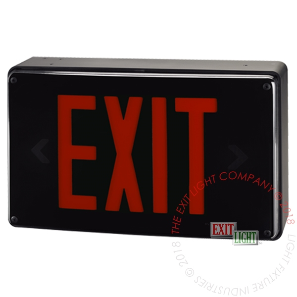 Vandal Resistant Red LED Exit Sign | Wet Location