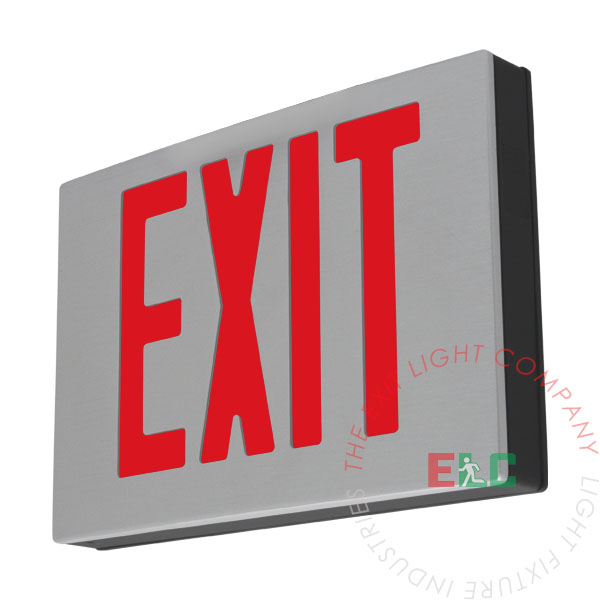 """The Exit Light Co. - NYC 8"""" Cast Aluminum Exit Sign 
