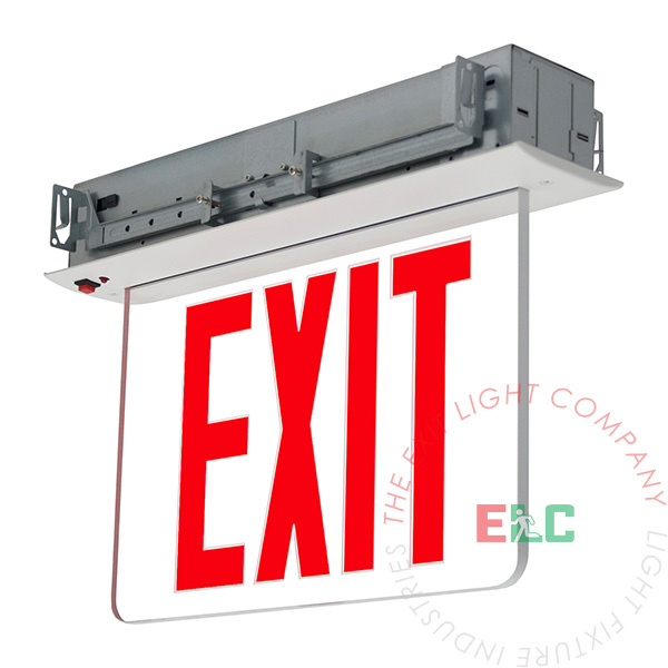 """8"""" NYC Red LED Edge Lit Exit Sign 