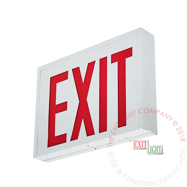 "NYC 8"" Red LED Steel Exit Sign 