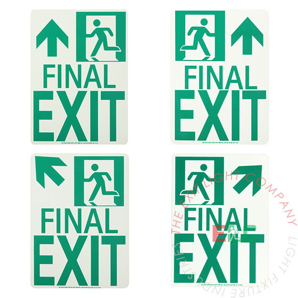 Photoluminescent Running Man | 'Final Exit' Sign