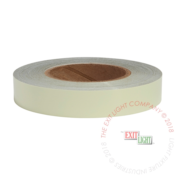 "Photoluminescent Safety Tape | 1 Case (12 Rolls of 1"" x 100')"