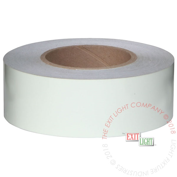 "Photoluminescent Safety Tape | 1 Case (6 Rolls of 2"" x 100')"