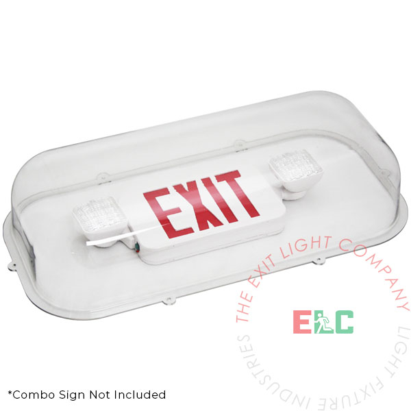 The Exit Light Co. - Exit Sign / Emergency Light Clear Shield Guard - Polycarbonate