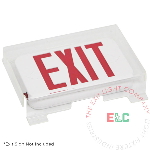 Exit Sign Clear Shield Guard - Polycarbonate