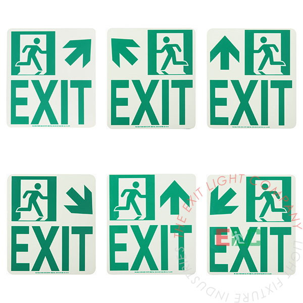 The Exit Light Co. - Photoluminescent Running Man | Wall Mounted | Exit Sign