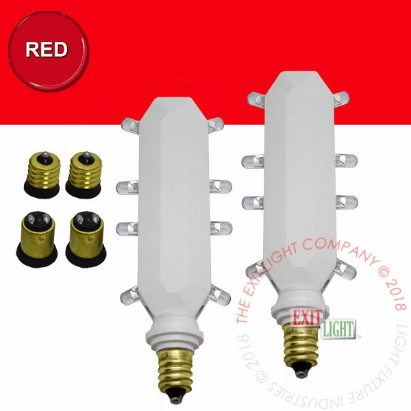 The Exit Light Co. - Red LED | 120 Volt or 277 Volt Retrofit Kit