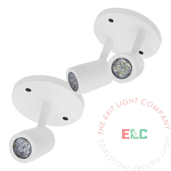 New York City Approved LED Emergency Light Remote Head | Single or Double