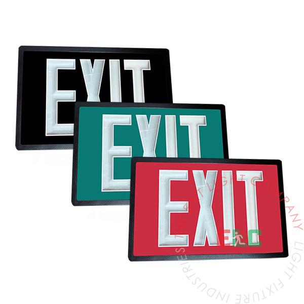 Tritium Self Luminous Exit Sign | Red, Green, Black | 6-8 Week Lead Time