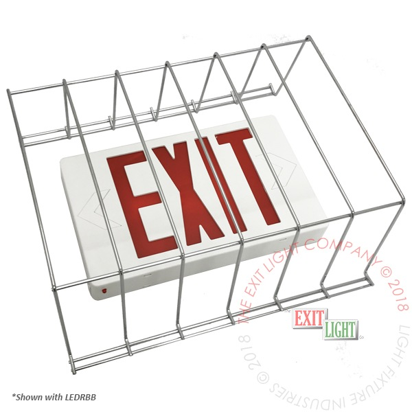 Wire Guard for Exit Signs / Emergency Lights