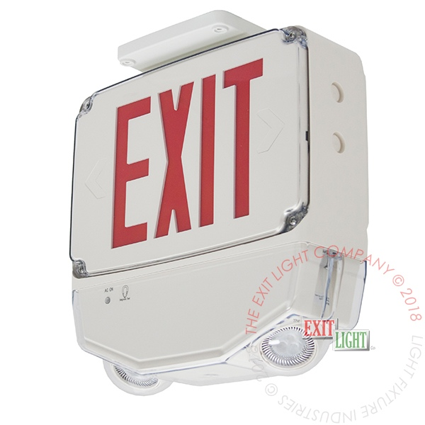 The Exit Light Co. - Outdoor Heavy Duty Combo Exit Sign | 5-7 Day Lead Time