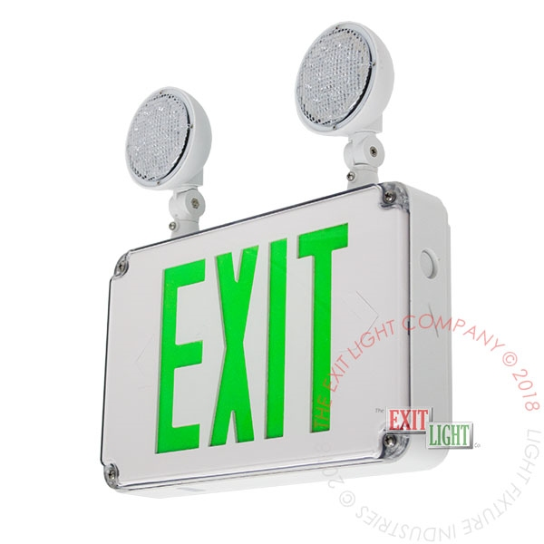 Green Exterior Combo Exit Sign