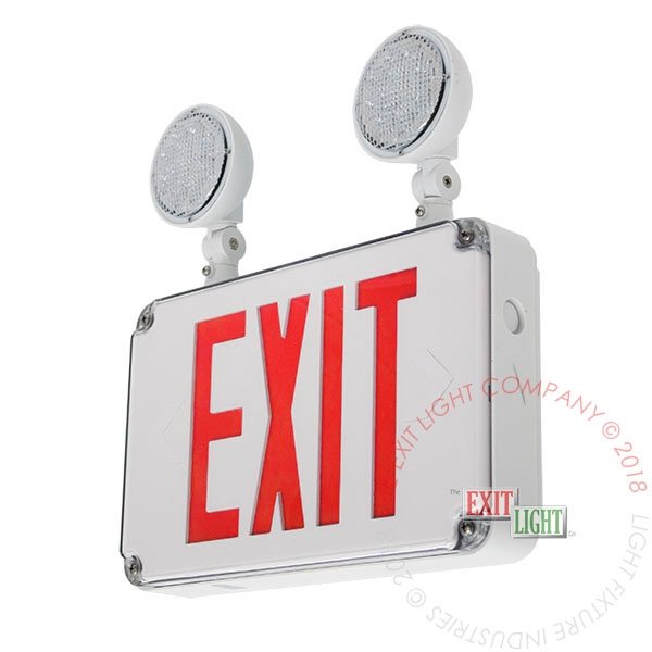 Red Exterior Combo Exit Sign
