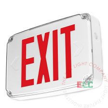 Wet Location Exterior Red LED Exit Sign