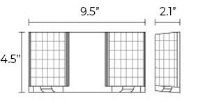 LED Emergency Light   White or Black Housing   Adjustable Heads Dimensions